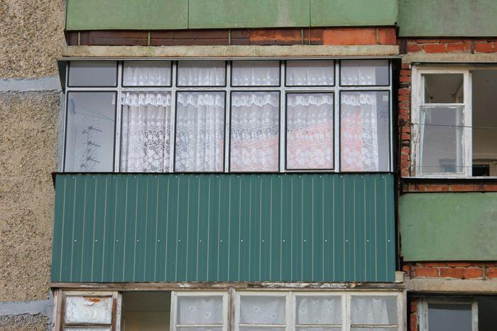 Металлическая рама на балкон.